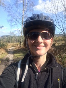 Cycling in Haldon Forest
